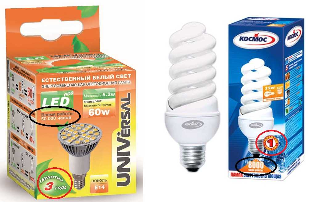 Сравнение светодиодных и энергосберегающих ламп — выбирайте лучшее