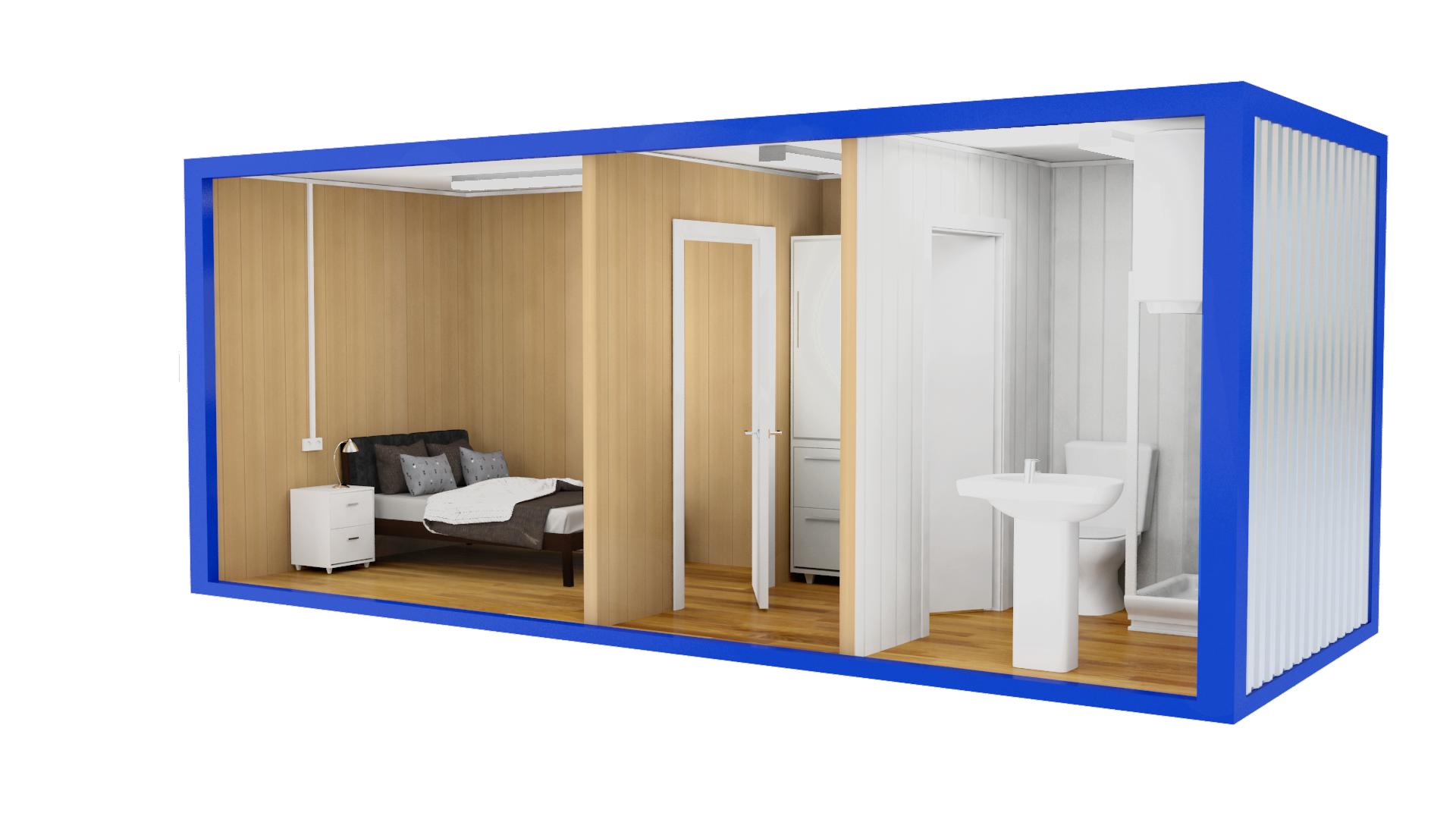 Двухкомнатные дачные бытовки с туалетом и душем
