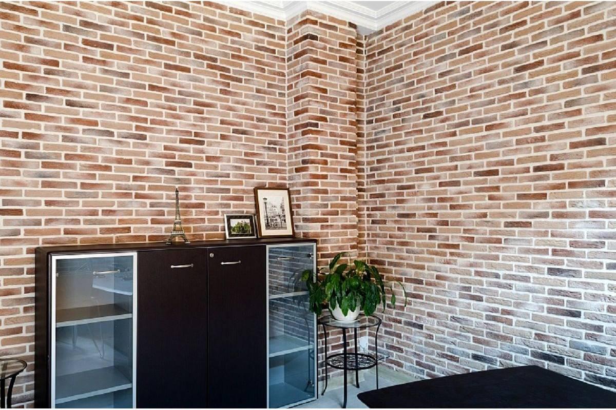 Какая бывает декоративная плитка под кирпич для внутренней отделки стен