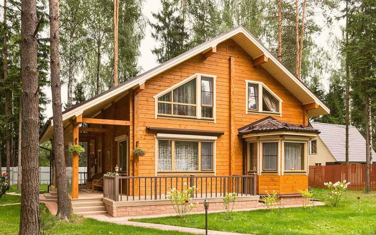 Дома из клееного бруса под ключ в москве, цена на строительство