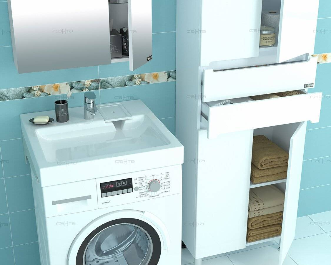 Раковина над стиральной машиной: фото, как выбрать, монтаж