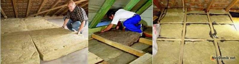 Какой слой утеплителя нужно на потолок дома