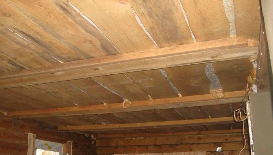 Подшивка чернового потолка по деревянным балкам - всё о ремонте потолка