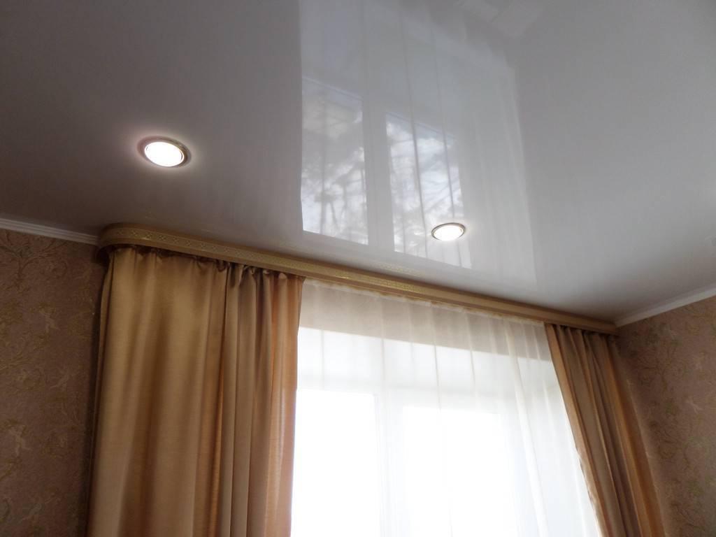 Потолочная гардина в натяжной системе: фото и цена установки для штор и монтаж
