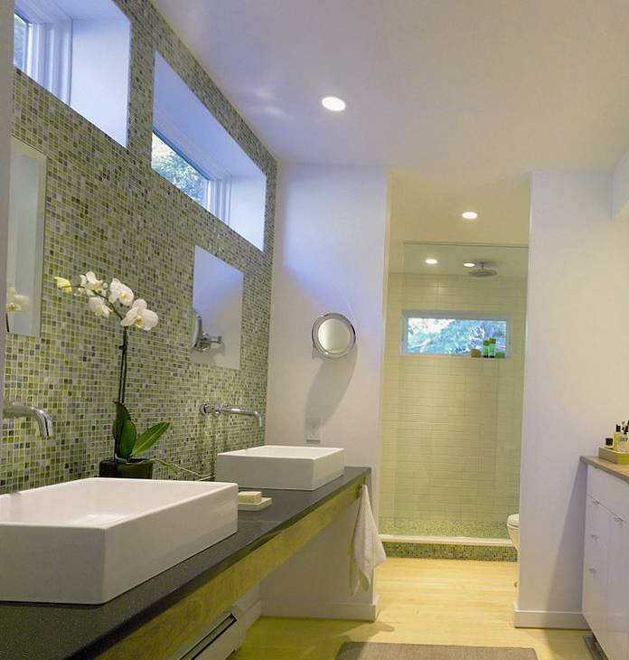 30 идей отделки ванной пластиковыми панелями
