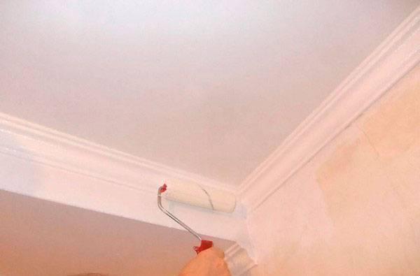 Как покрасить потолок из гипсокартона: красим без разводов