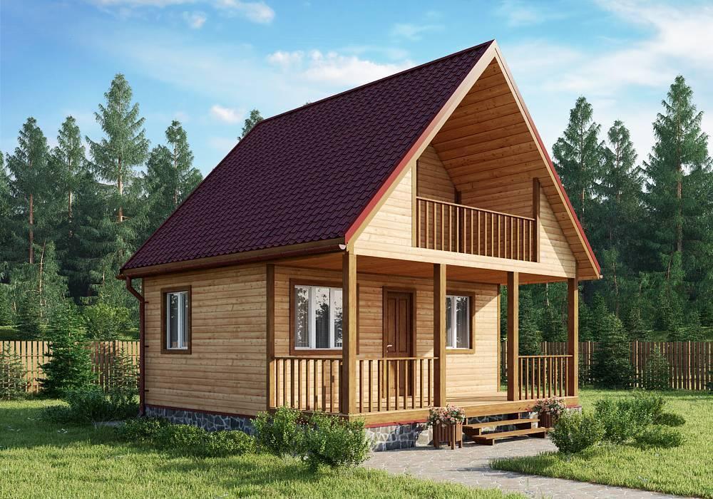 Строительство дешевого дома из бруса эконом класса