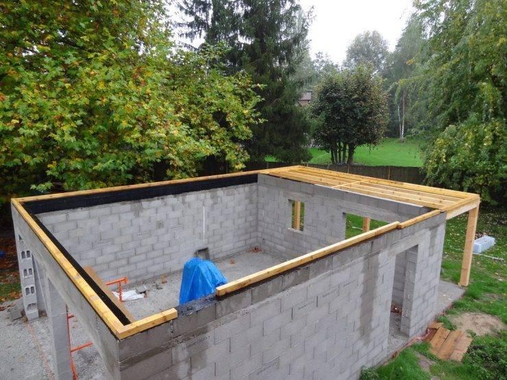 Как построить гараж из пеноблоков — теория и практика