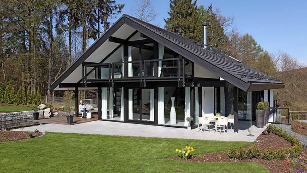 Проекты частных домов с панорамными окнами