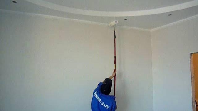 Подготовка потолка из гипсокартона к покраске: 4 этапа