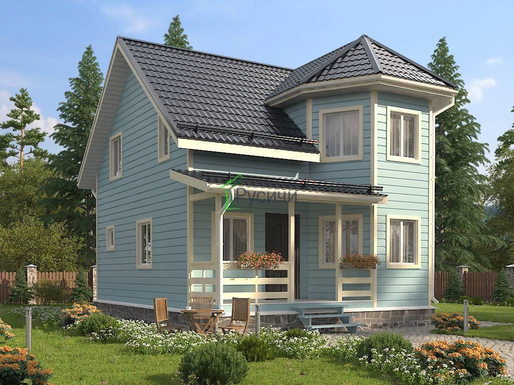 Дома из бруса с эркером и виды проектов