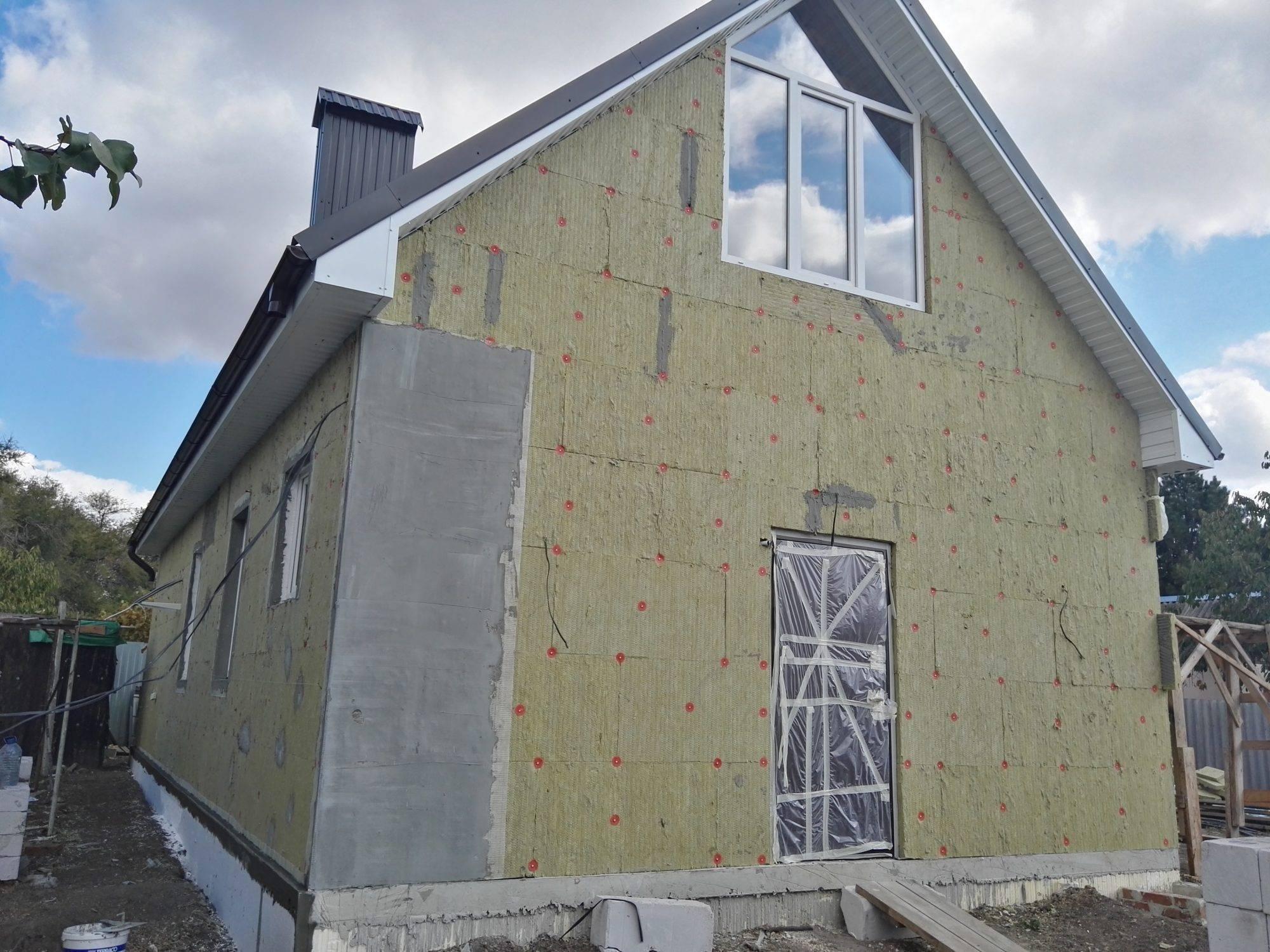 Технология утепления фасада минеральной ватой