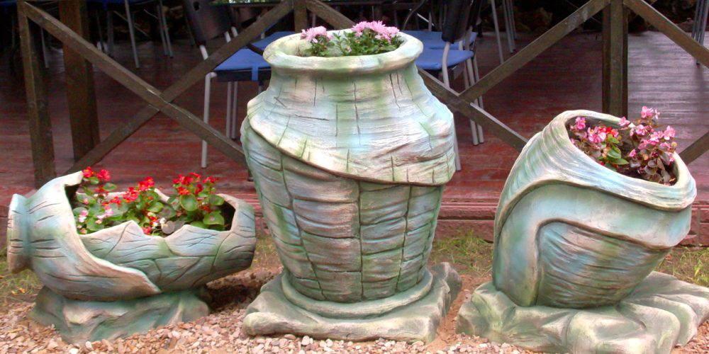 Уличные вазоны своими руками: деревянные, бетонные, фото, видео