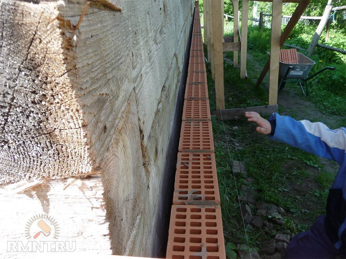 Облицовка кирпичом дома из бруса: инструкция