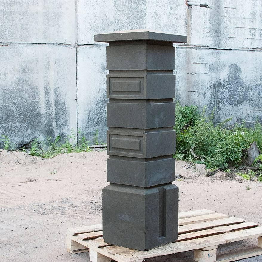 Форма под столбики. наборные блоки для столбов забора: виды декоративных форм