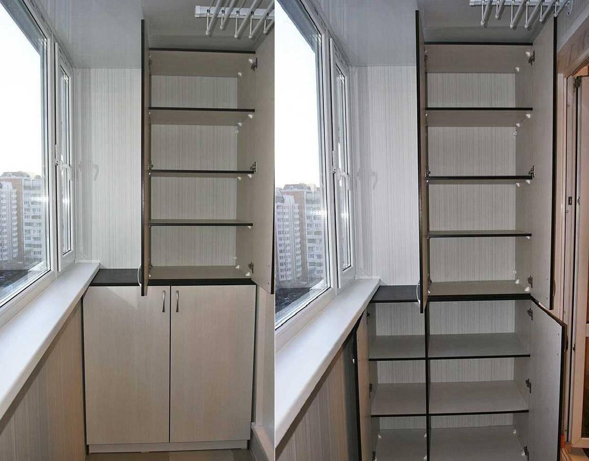 Шкаф на балкон своими руками: варианты конструкций, изготовление