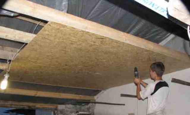 Технология монтажа осб плит на потолок