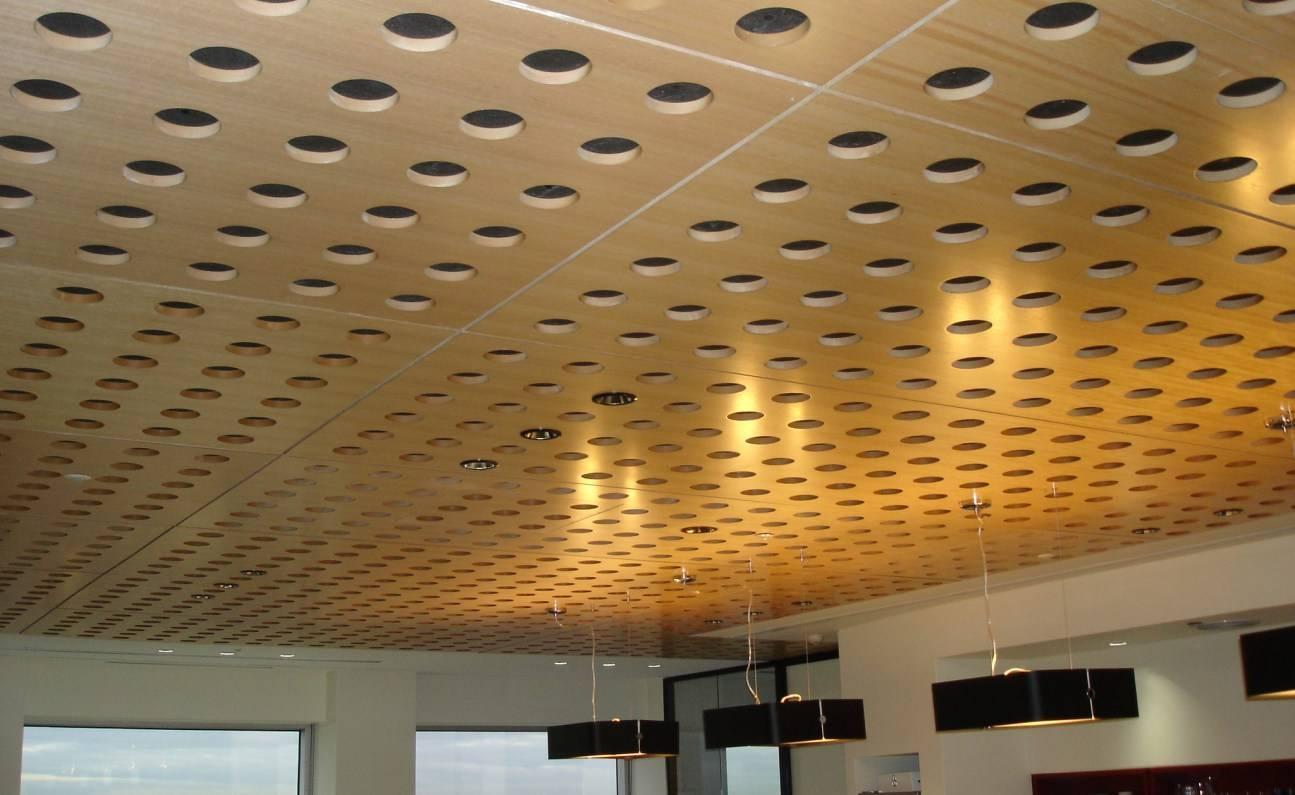 Акустические натяжные потолки и звукоизоляционные панели