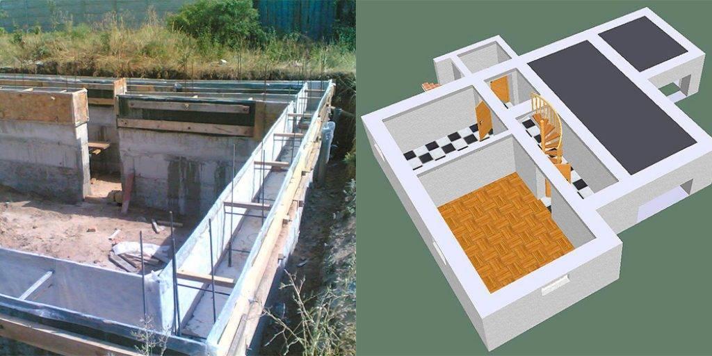Фундамент для дома с подвалом: постройка и заливка своими руками, цена