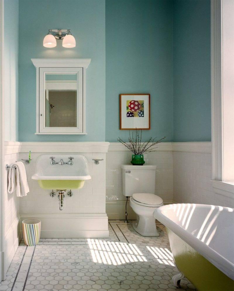 50 идей покраски стен в ванной комнате: фото интерьера