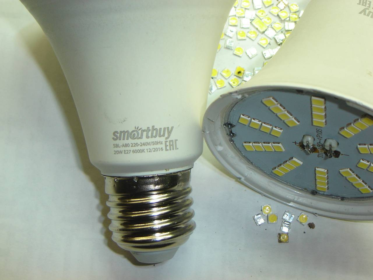 Ремонт светодиодной лампочки (led) своими руками