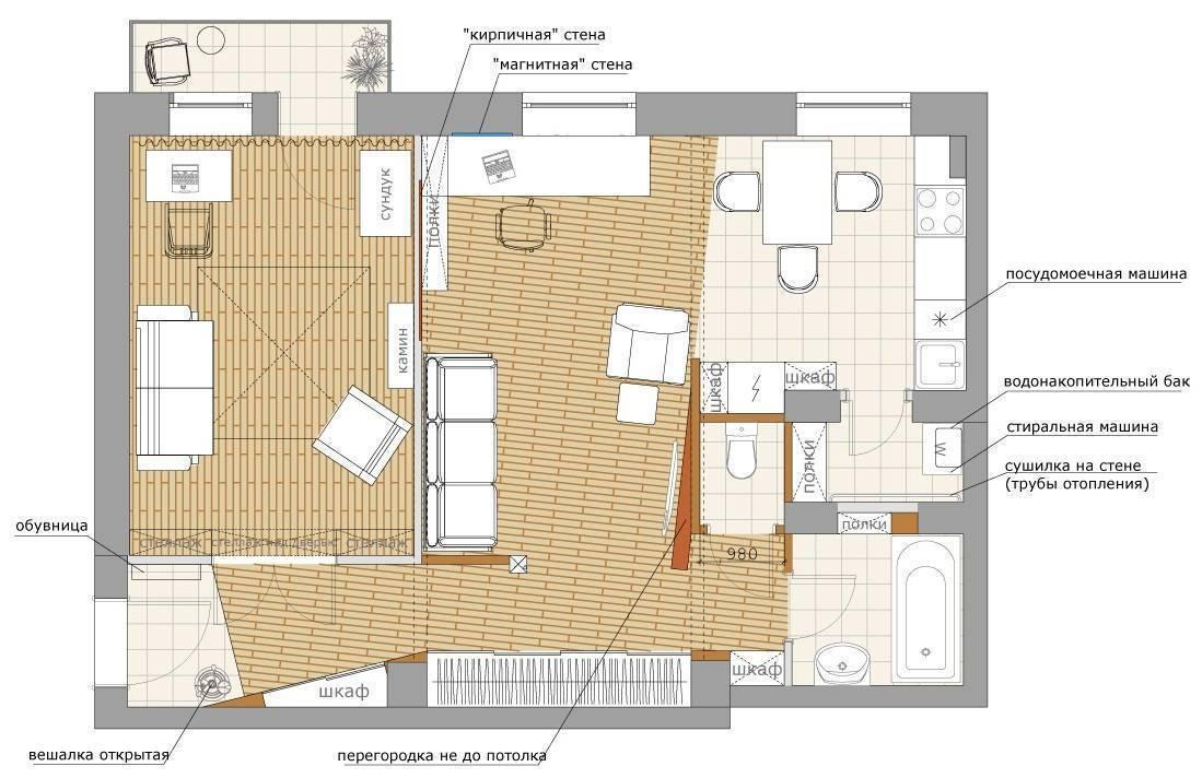Перепланировка квартиры - 75 фото вариантов улучшения интерьера