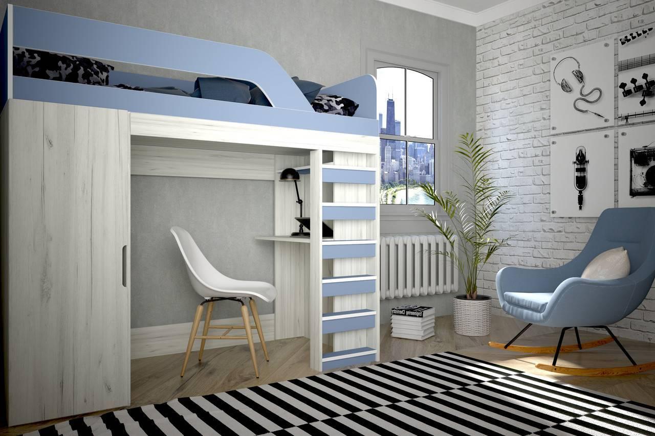 Детская кровать-чердак – стильная и удобная экономия пространства. 115 фото основных вариантов