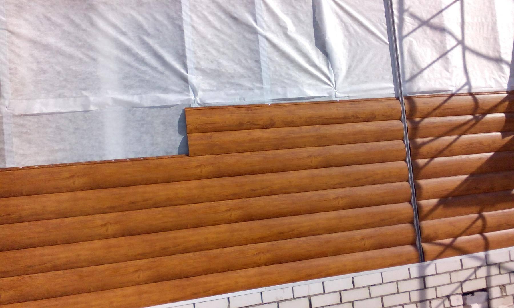 Металлический сайдинг блок хаус под бревно: видео-инструкция по монтажу своими руками, фото