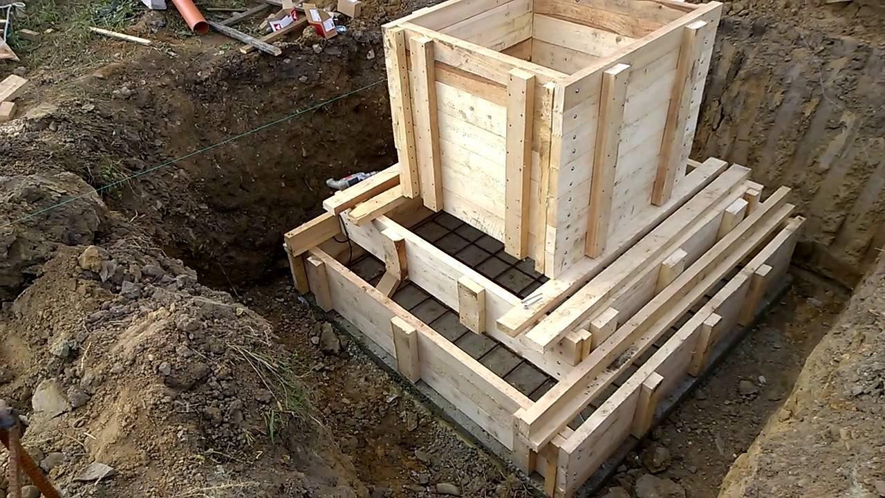 Создание опалубки для столбчатого фундамента