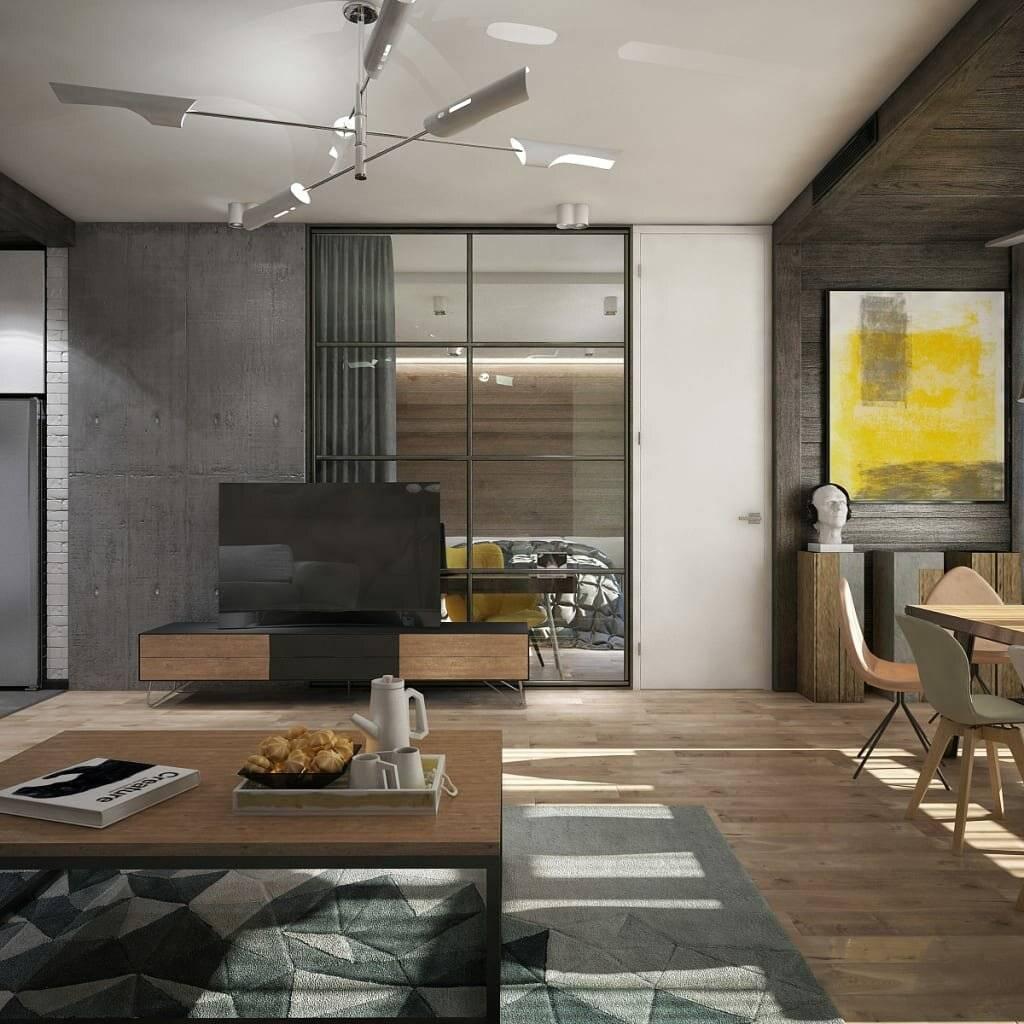 Использование стиля лофт в маленьких квартирах