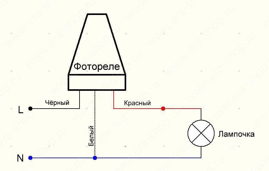 Фотореле для уличного освещения - характеристики и схема подключения датчика своими руками