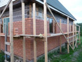 Облицовка кирпичом деревянного дома: делаем сами. кирпичная облицовка для деревянного дома обложить дом красным кирпичом