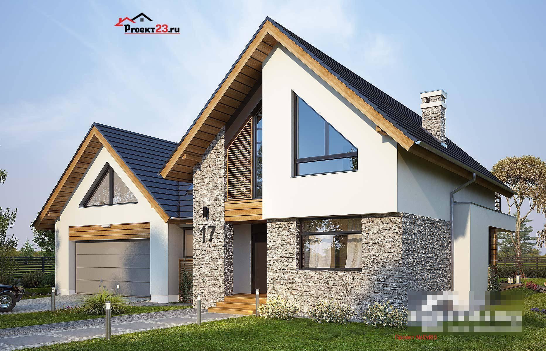 Проекты домов с мансардой: бесплатно чертежи и фото   home-ideas.ru