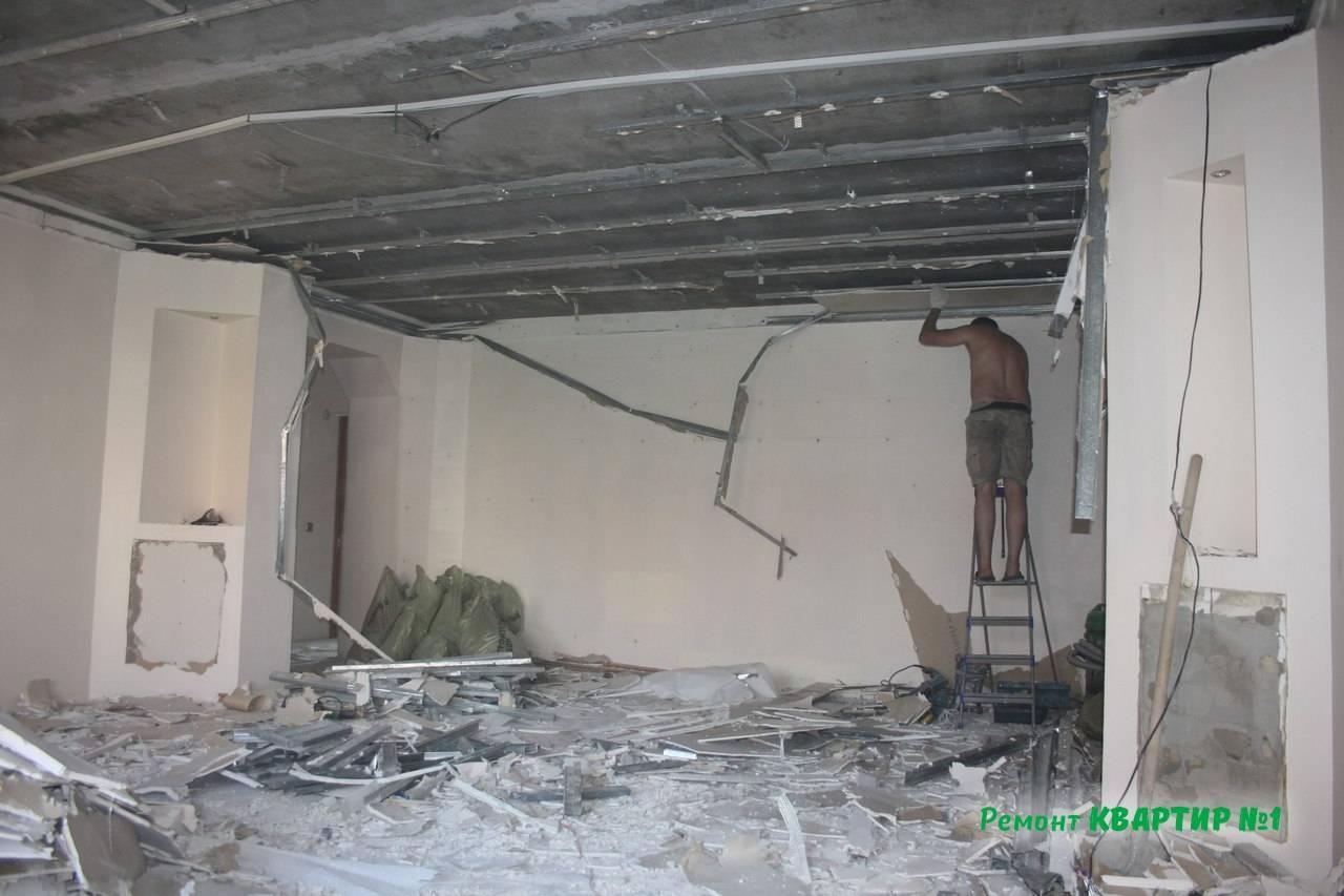 Как снять натяжной потолок и поставить обратно - всё о ремонте потолка