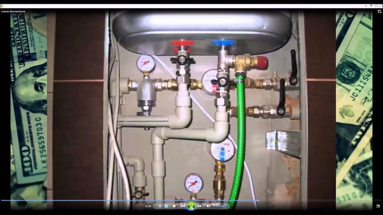 Предохранительный клапан для водонагревателя - установка обязательна!