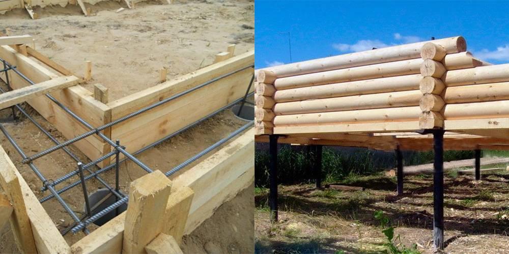 Фундамент для дома из бруса: расчет и строительство