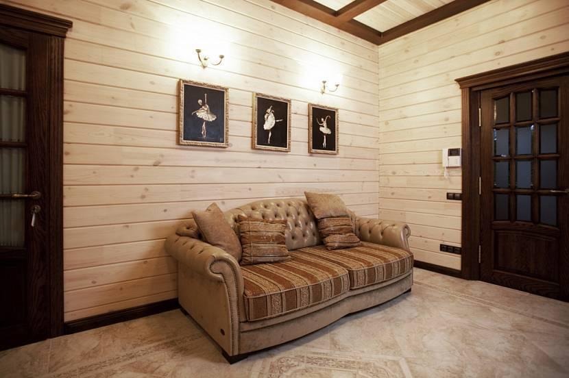 Блок-хаус внутри дома: особенности использования и технология отделки. фото примеров
