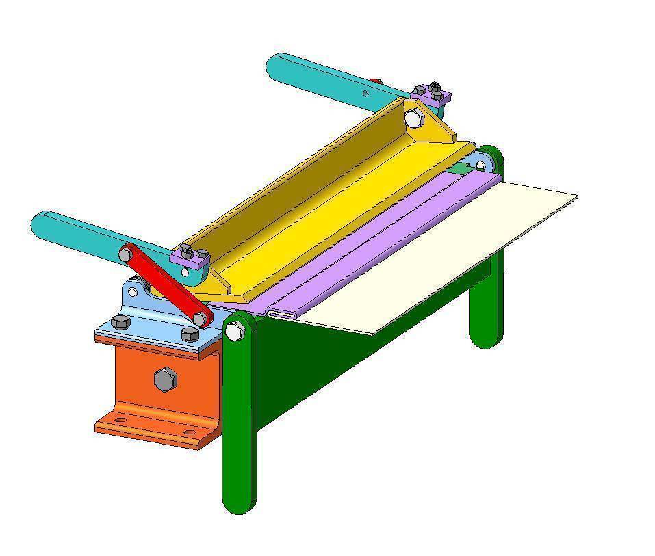 Как сделать листогибочный станок своими руками: конструкции, четрежи и описание как сделать листогибочный станок своими руками: конструкции, четрежи и описание