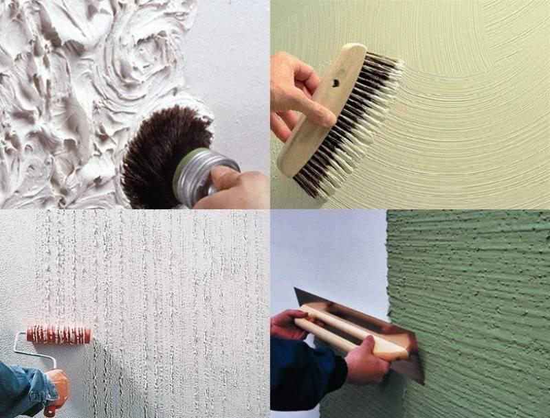 Покраска декоративной штукатурки - способы нанесения (34 фото): виды окрашивания стен, как покрасить в два цвета своими руками