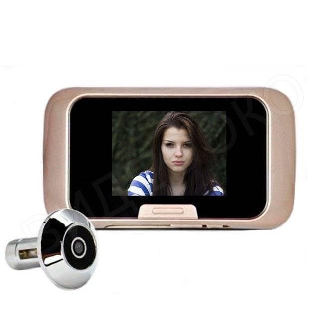Дверной глазок с видеокамерой – с монитором на дверь