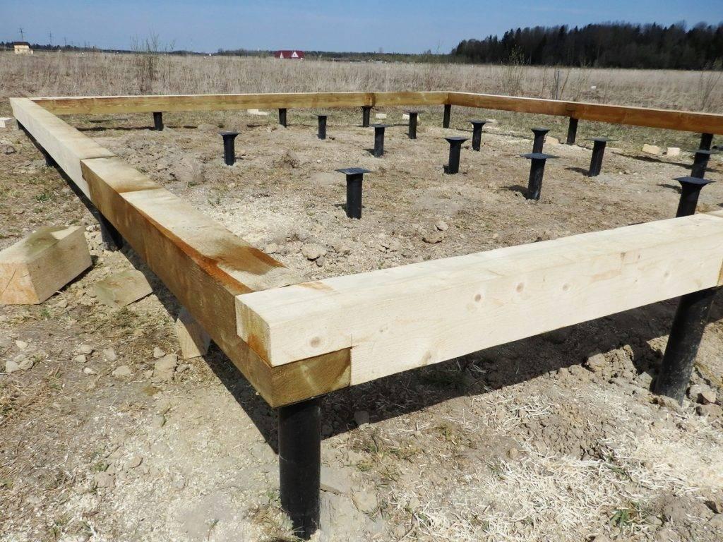 Строительство домов из бруса на свайно-винтовом фундаменте