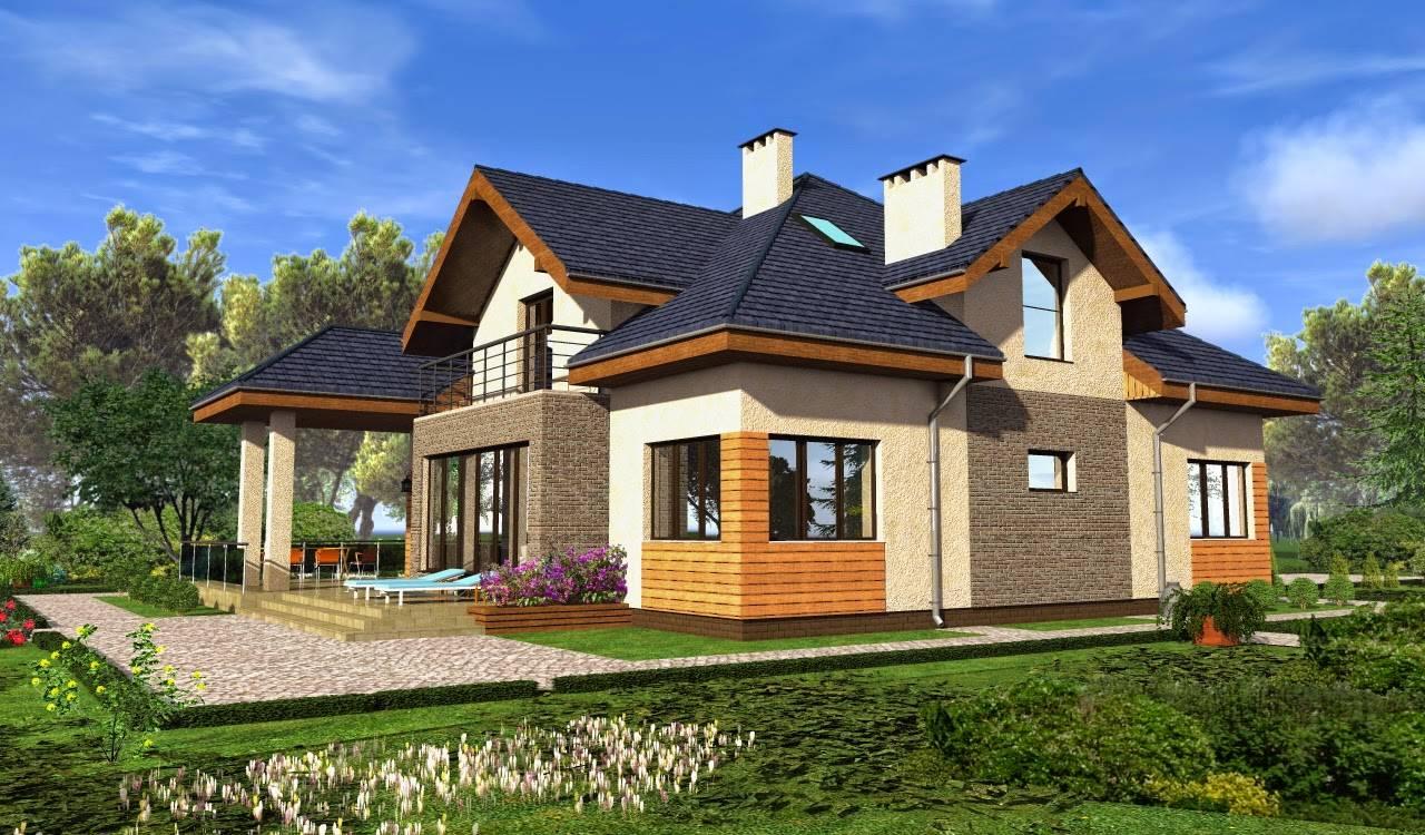 Дачные дома с мансардой и верандой: фото идей дизайна