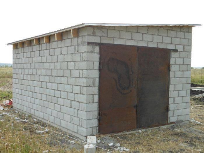 От фундамента до крыши: постройка на участке дачи или дома  гаража из пеноблоков для машины