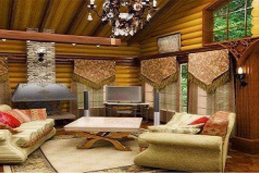 Шале прованс - строительство дома из бруса за 5406650руб под ключ   русский стиль
