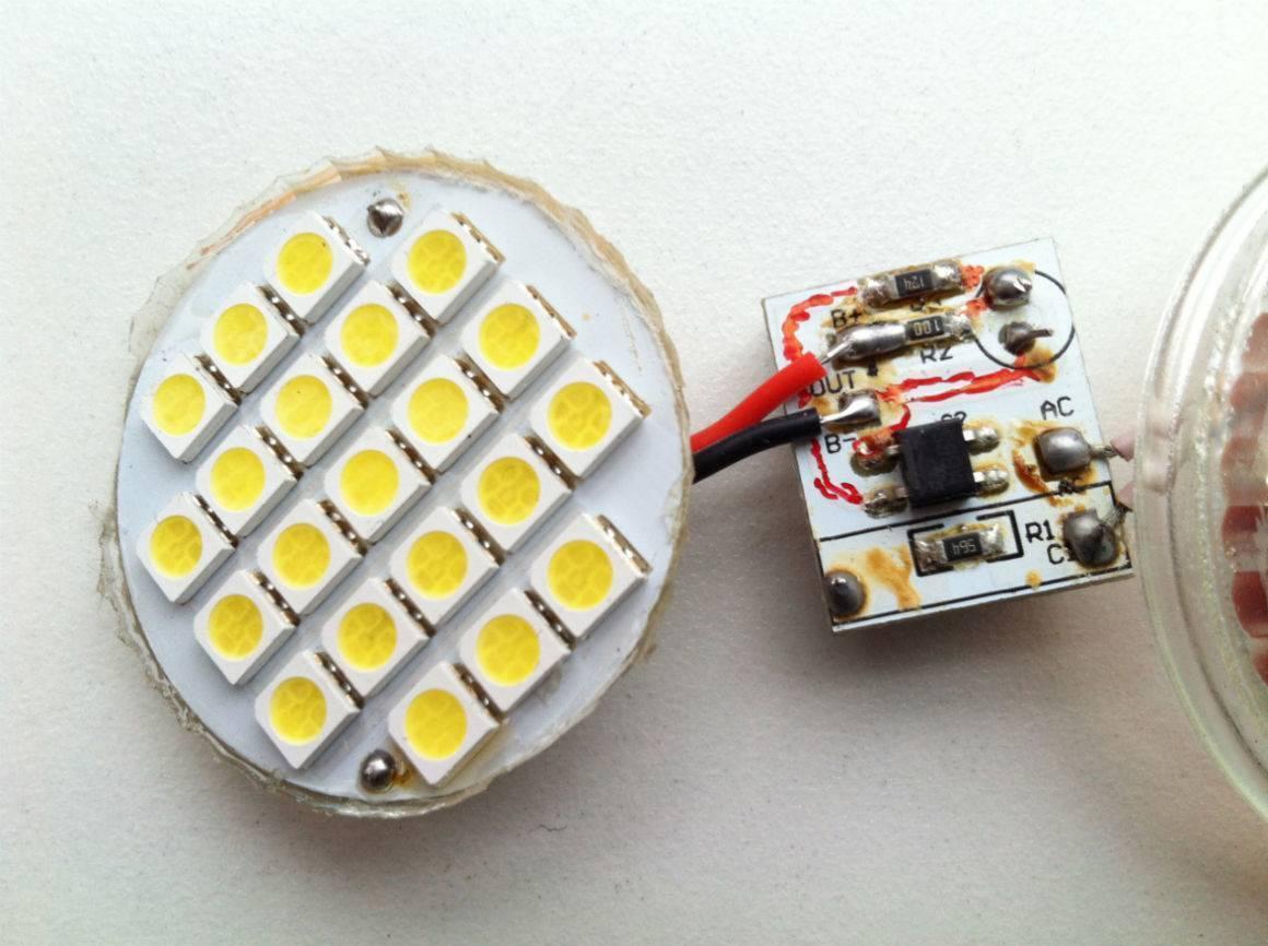 Как самостоятельно разобрать и отремонтировать светодиодную лампу