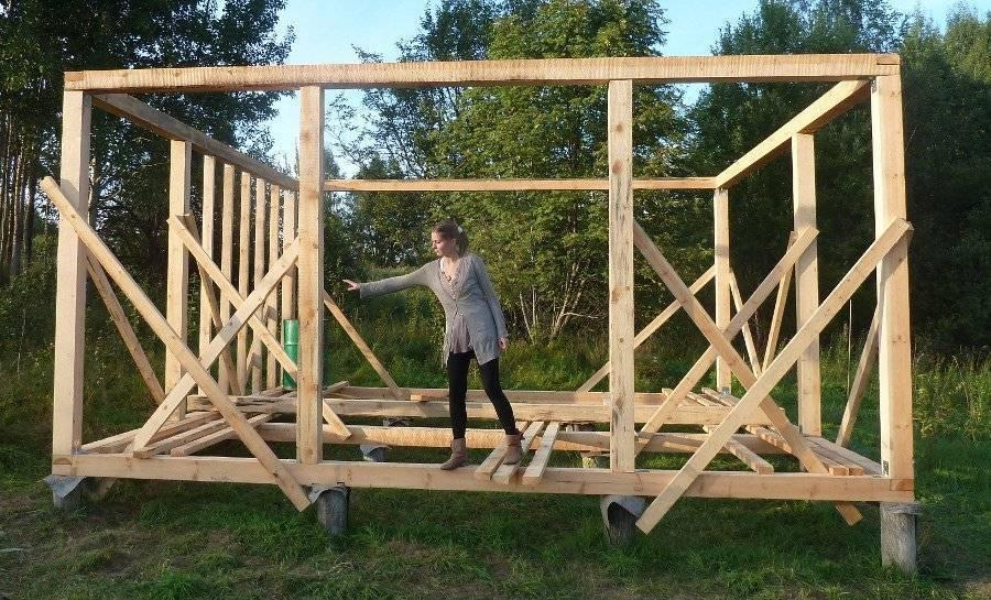 Строительство каркасного дома из бруса своими руками