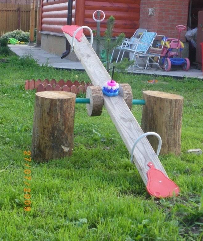 Детская площадка на даче своими руками: фото, идеи