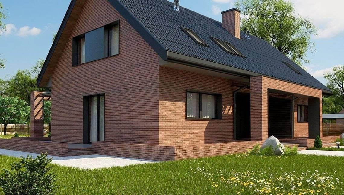 Проекты домов из кирпича для постоянного жилья, чертежи, фото