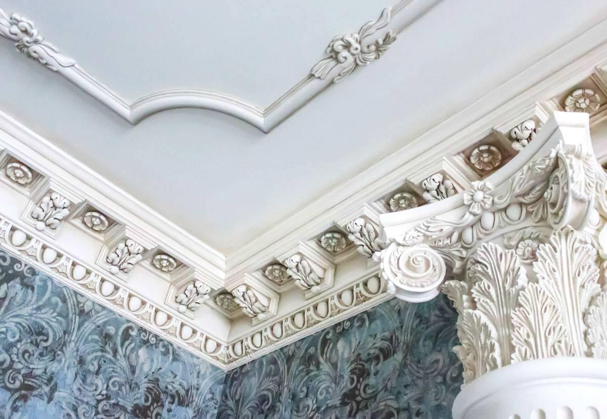 Ремонт и реставрация лепнины. технология реставрации гипсовой лепнины современный дизайн потолков с лепниной