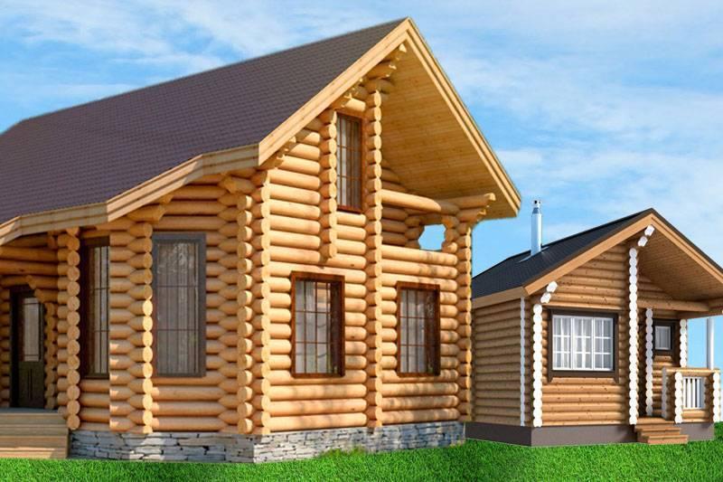 Дома из оцилиндрованного бревна - особенности строительства, плюсы и минусы